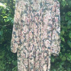Sundance floral dress with underslip